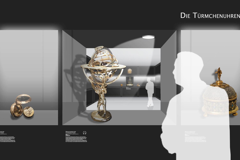 Raumeindruck, Uhren, Astrolabien/Goldschmiedekunst